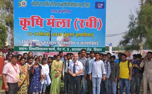 """Visited """"Krishi Mela""""at CCSHAU FARM – Hisar"""