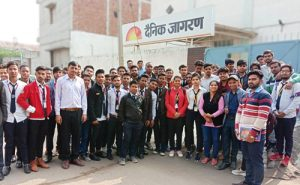 Students of SET visited Dainik Jagran Press