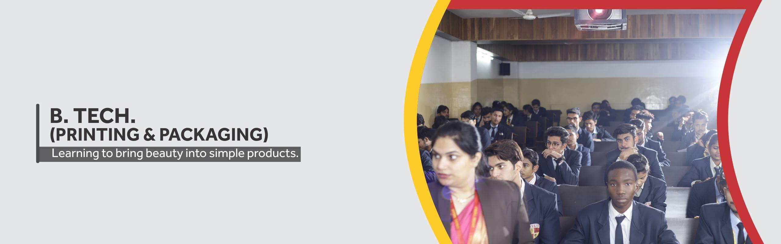 B. Tech. PP (Printing and Packaging) in Haryana, India