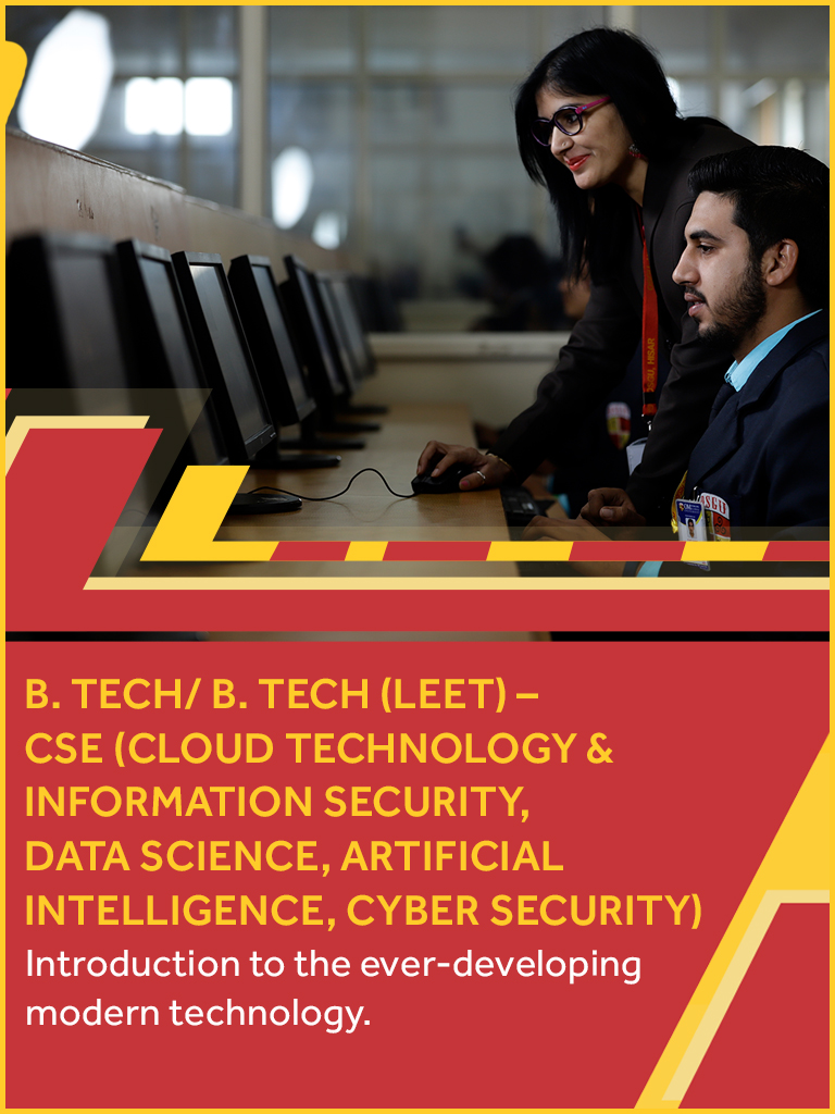 B. TECH/BE in CSE Course/College in Haryana, India