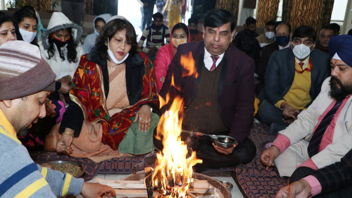 Regular classes started with Hawan on Thursday at Om Sterling Global University