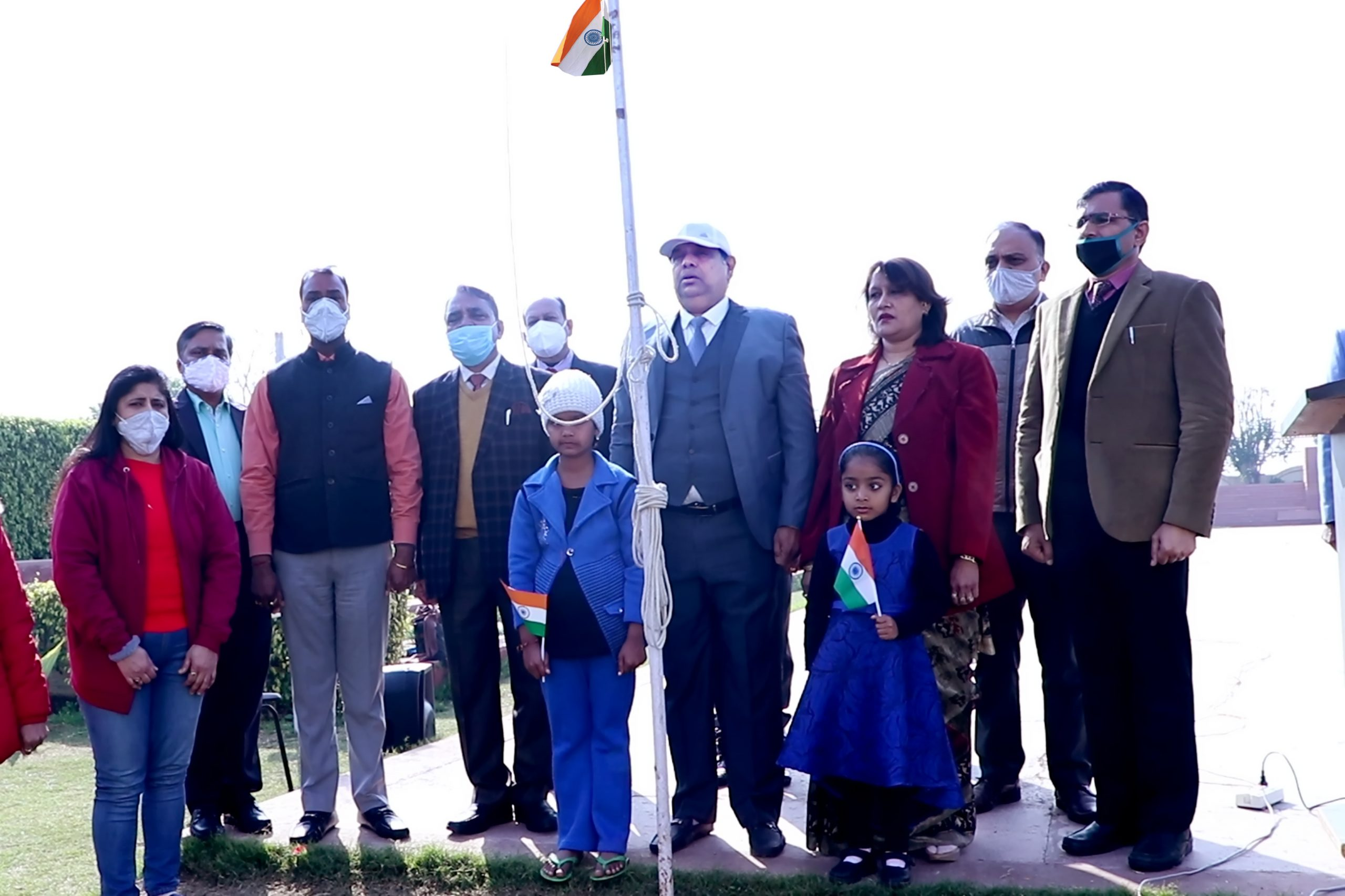 The 72nd Republic Day was celebrated with splendor at Om Sterling Global University