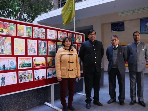 Saluting the Soldiers and Farmers... Om Sterling Global University organized Poster Competition.