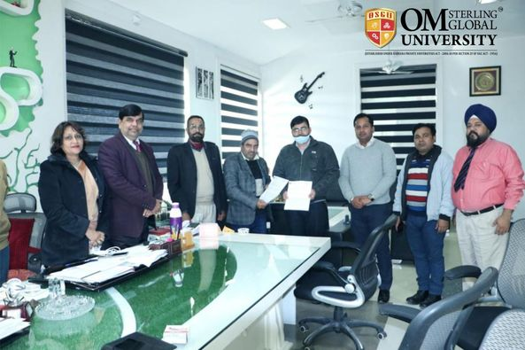 Vocational Trainer Partner for Vocational courses in B. Voc and M. Voc Courses of the Om Sterling Global University at Bathinda Punjab.