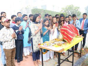 Celebration of Vasant Panchami in OSGU