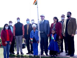 he 72nd Republic Day was celebrated with splendor at Om Sterling Global University