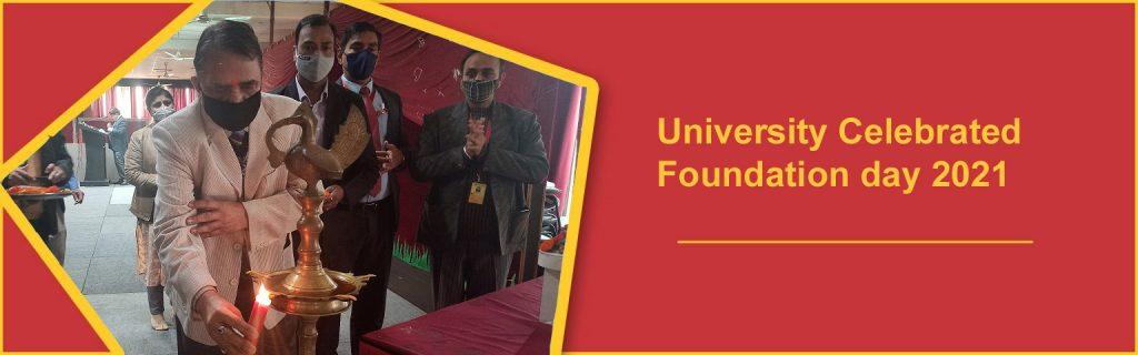 University Celebrated Foundation day 2021