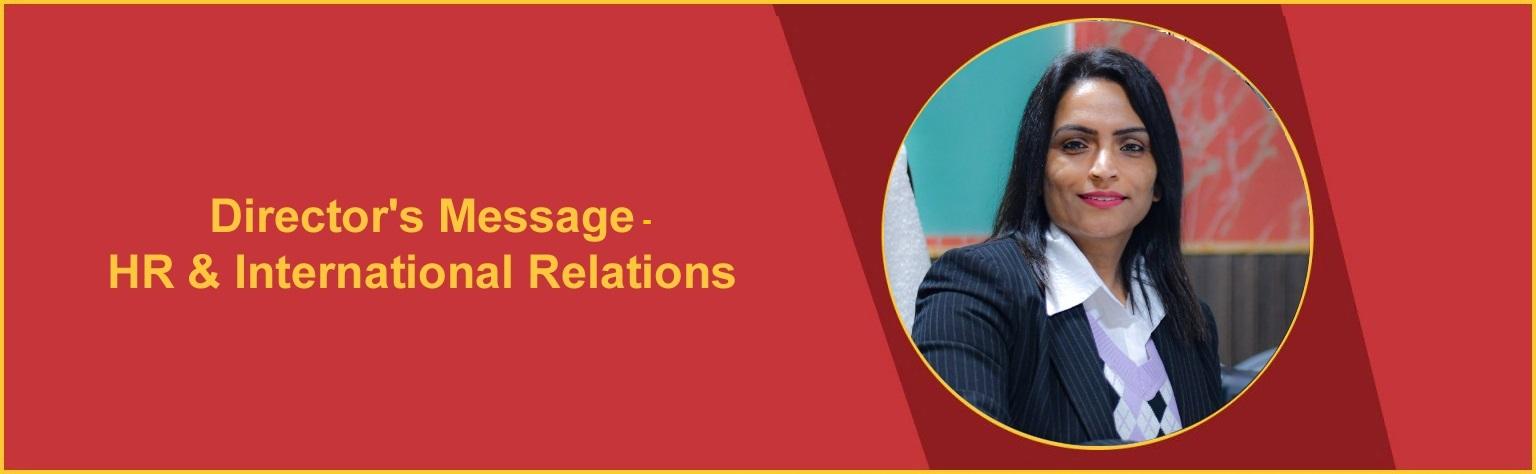 Director's Message- HR & International Relations OSGU Hisar