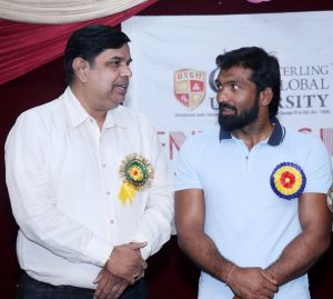 PadmaShri Sh Yogeshwar Dutt awarded to players of Om Sterling Global University (OSGU)6