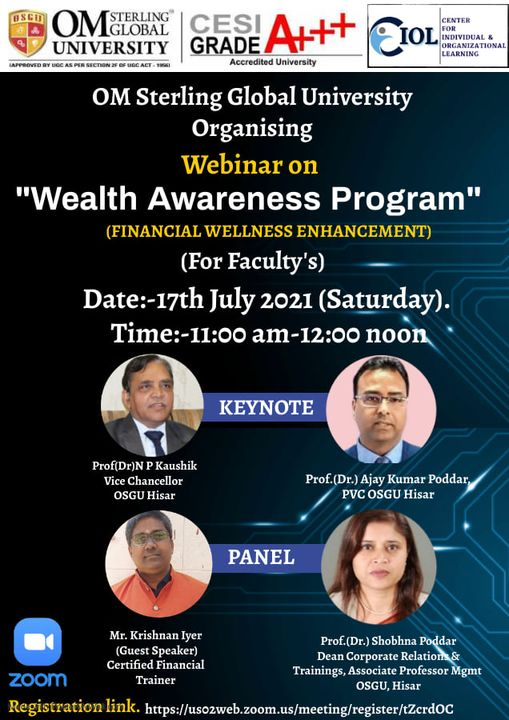 Om Sterling Global University Organizing Webinar on